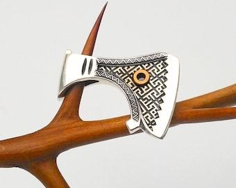 Viking Axe pendant.Viking Axe jewelry.Viking Axe charm.Viking necklace.Viking Shield.Norse mythology.Norse pendant.Nordic mythology.Norse