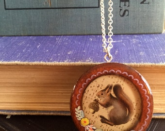 unique and charming squirrel pendant, gift for your quirky friend
