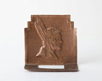 Copper Indian Native American Bookend