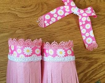 Pink anklet set