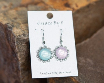Baby Shower Pastel Filigree Earrings