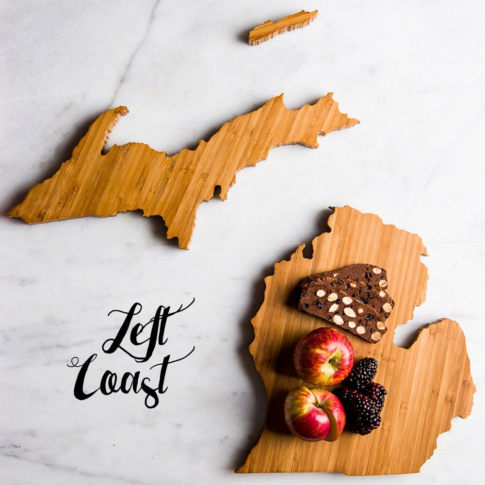 Kitchen Gift For Mom Michigan Cutting Board Personalized State Wedding Gift Home Men