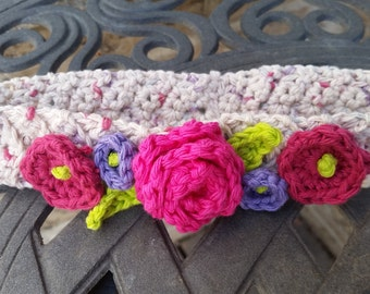 Crochet Flower Headband (Baby, Toddler, Child)