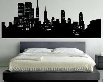 Marvelous New York Skyline Wall Decal   Bedroom Wall Decal Decor   New York Wall Art Part 18