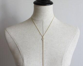 Circle Lariat Y Necklace