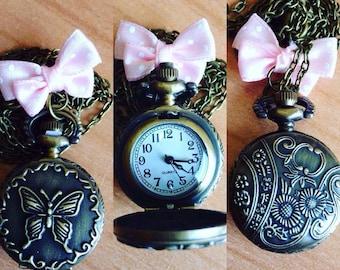 necklaces watch vintage antique bronze