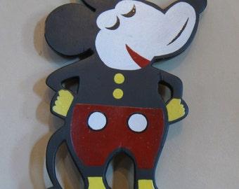 Mickey Mouse Folk Art Figure