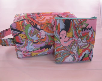 Pink Psychedelic Toiletry Bag