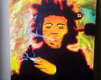 Jimmy Hendrix Oil Painting