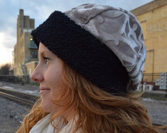 du Bonne' - Hat, Slouch, Durable, Upcycled, Feminine, Unique, Woven, Warm, SMALL, Limited Edition, Sophisticated, Cotton, Polyester