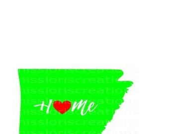 Home Love Heart Arkansas    SVG Cut file  Cricut explore file t-shirt designscrapbook vinyl decal wood sign t shirt cricut cameo