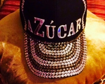 Personalized Bling Bling Black Baseball Hat