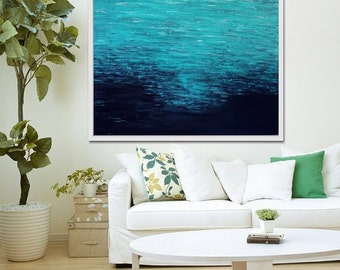 Abstract Art Print,  Abstract Painting, Beach Decor, Abstract Art, Blue Abstract,  Seascape, Giclee Print ,Acrylic Painting