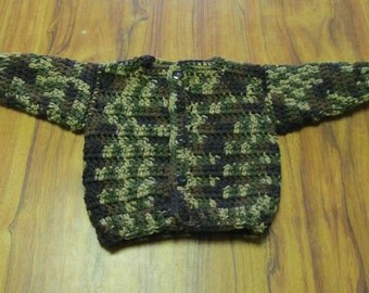 Camouflage Baby Sweater size 3-6 months