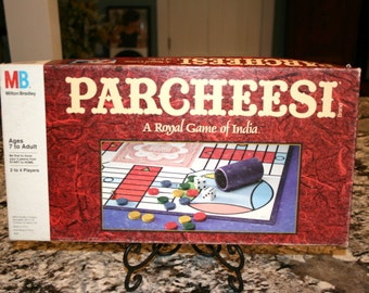 1989 Parcheesi Board Game//A Royal Game of India//Milton Bradley Game//Vintage Board Game