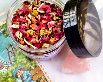 PASSION Witch Herb Blend. True Love Spell, Attraction Spell, Happiness, Friendship, Lust, Heart Chakra. For Ritual, Magick, Loose Incense.