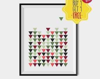 Triangle art print, geometric printable art, geometric posters, digital art prints download, printable art wall, printable for living room
