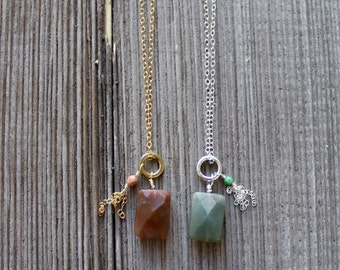 Winsome Long Gemstone Necklace