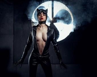 Catwoman cosplay costume new 52, Halloween costume, DC comics, Cat woman, Batman, cartoon
