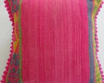 """Handwoven Pillow Cover - 20"""" x 20"""" / Artisanal Pillow Cover / Decorative Pillow Cover / Handmade Pillow Cover / Wool Pillow Cover"""