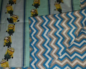 Minion Quilt, blanket, baby, toddler, throw