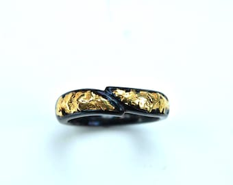 2442-Ladies Gold Nugget band-Promotion 10% Off