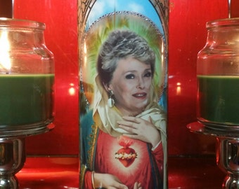 "Golden Girls - Blanche - Rue McClanahan - 8"" Celebrity Saint Prayer Candle"
