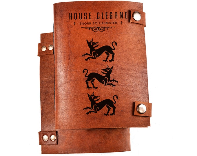 House Clegane - Game of thrones - leather journal - leather notebook
