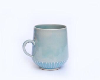 Small Half Striped Mug