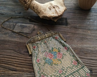 Antique Metal Mesh Bag