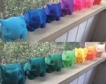 Medium Bulbasaur Planter! 70+ Color Options! Realistic Pokemon Bulbasaur 3D Printed Garden Flower, Herb, Succulent, Cactus Planter Pot