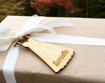 Engraved Bridesmaid Gift Tag