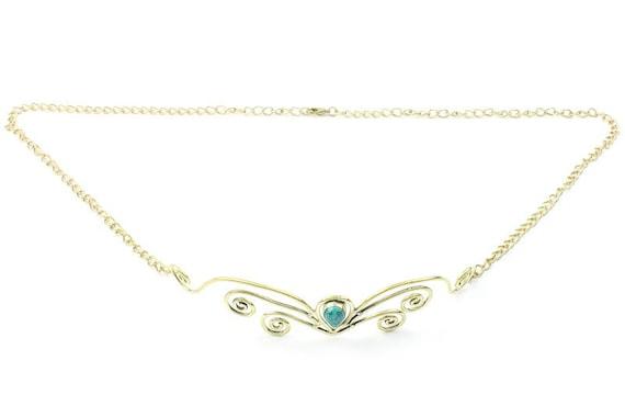 Turquoise Goddess Head Piece, Head Band, Metal Head Band, Bindi, Hair Jewelry, Head Jewelry, Festival Jewelry, Tribal, Ethnic, gypsy, BOHO