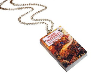 Colour of Magic, Necklace, Discworld, Terry Pratchett, Miniature Book Necklace, Bookmarks or Earrings