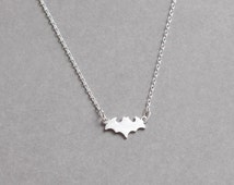 Bat Necklace, Batman Necklace, Cute Necklace for women, Delicate Necklace, Dainty Necklace, Tiny Necklace, Simple Necklace, Adorable Gift