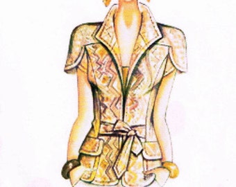 Marfy sewing pattern - Exclusive Italian Design for advanced sewers - Jacket