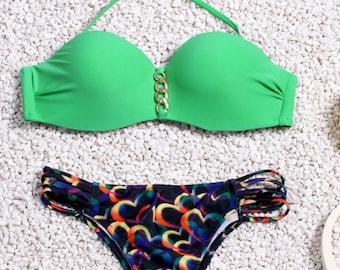 Green Brazilian Style Bikini
