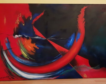 "Oil painting on canvas ""EvoLution"" Abstract expressionism"