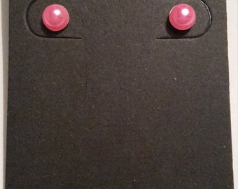Pink stud earrings