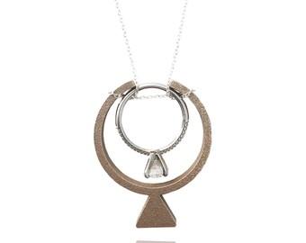 Necklace Ring Holder - Engagement Ring profile (Engagement Ring Ringette)