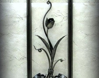 Metal Art, Exclusive, tulip, forged paintings, high quality interior design, forging