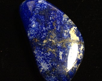 Lapis Lazuli, Lapis, Pyrite, natural, handmade, large cabochon. H-174