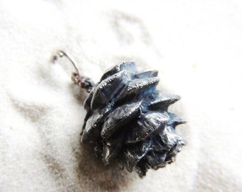 Pendant    Larches cone Electroformed nature