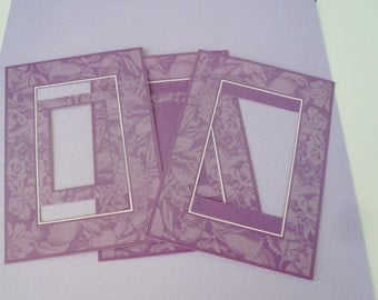 Anna Griffin Double Sided Paper Frames Diecut Cardmaking Scrapbooking Set Lilac Yellow Frame Embellishment