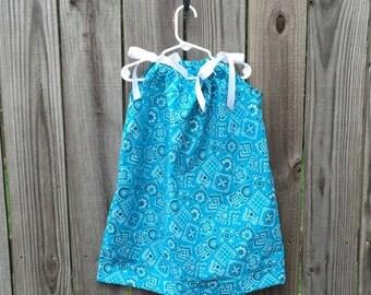 Cowgirl Up Blue Bandana Pillowcase Dress