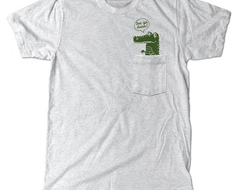 See Ya Later Alligator Pocket T-Shirt, Cute pocket tee shirt