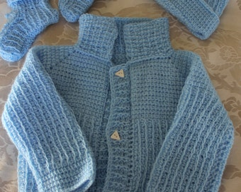 Blue Sweater Set