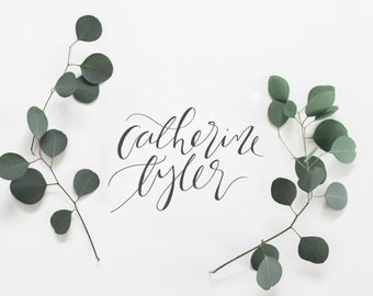 Custom Calligraphy Logo, Hand Lettered Logo, Watercolor Logo, Photography Logo