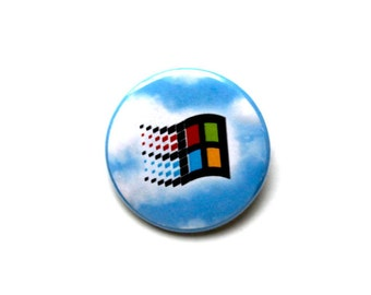 "Windows 98 1.5"" & 2.25"" Button (Magnet Option)"