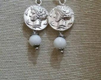 Arethusa coin pendants in silver